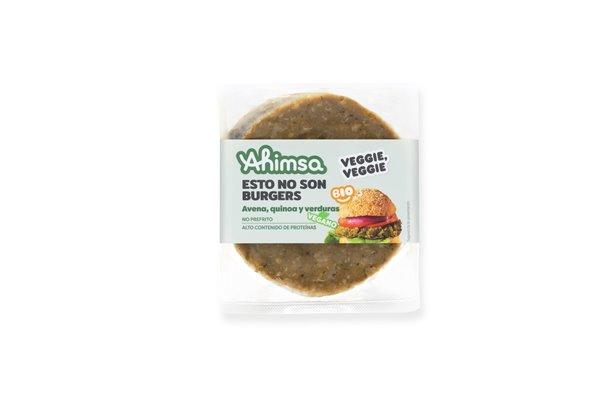 Burger Vegetal Quinoa Borraja Bio Ahimsa, 160 gr