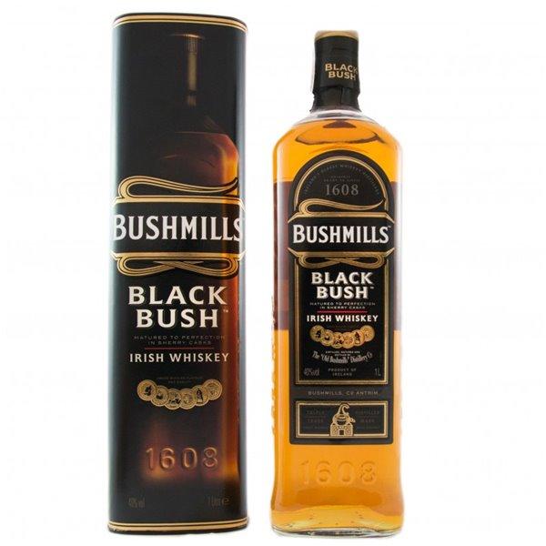 BUSHMILLS BLACK BUSH 1L. + ESTUCHE