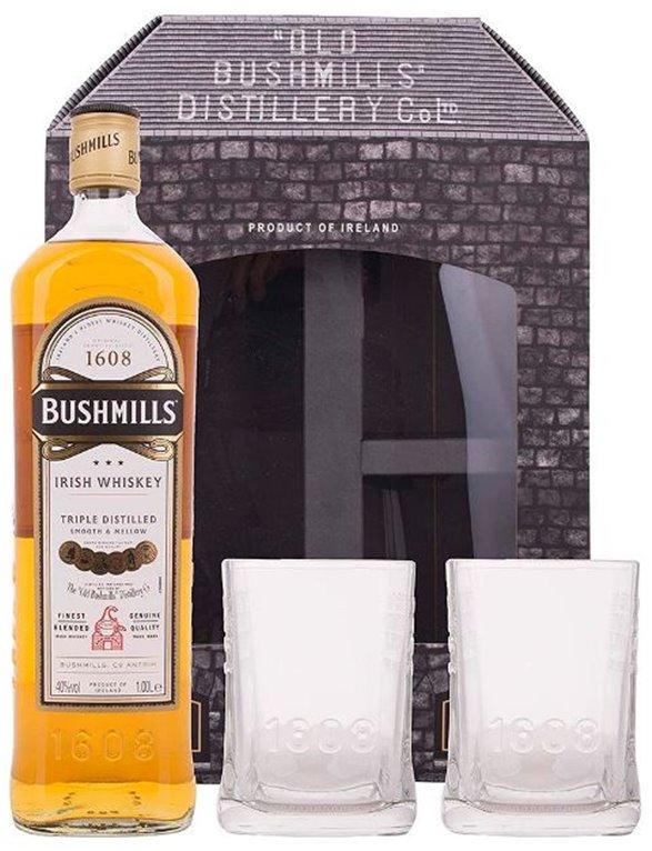 Bushmills Original Triple Distilled Irish Whiskey - 1 Litro + 2 vasos