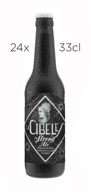 Cerveza Artesana La Cibeles Strong Ale. Caja de 24 tercios