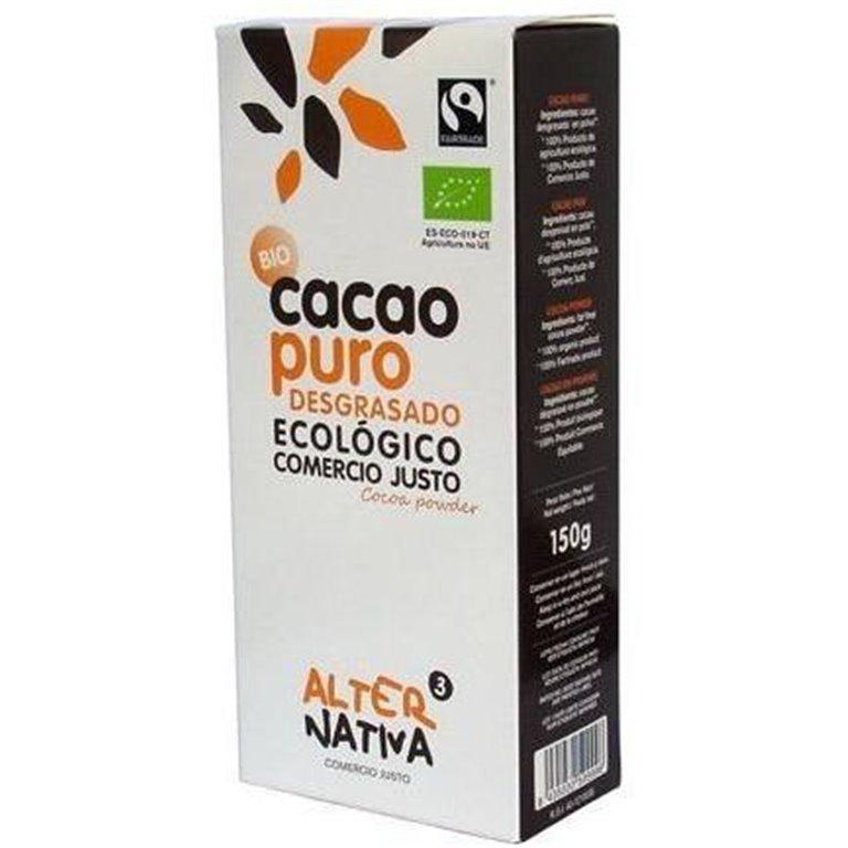Cacao en Polvo Desgrasado Bio Fairtrade 150g, 1 ud