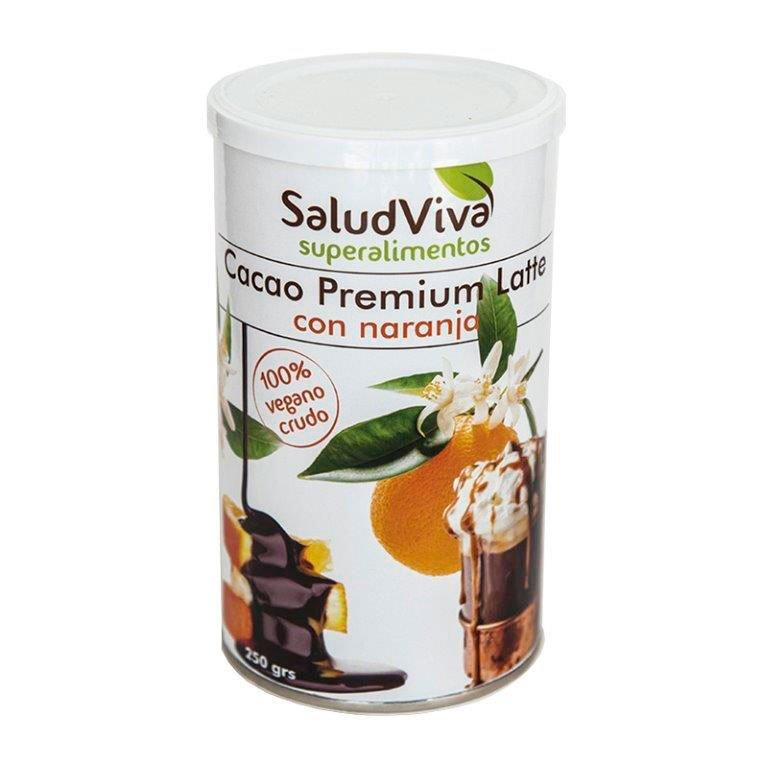 Cacao Premium Latte con Naranja Bio 250g
