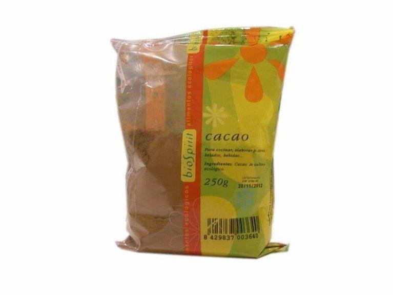 Cacao puro polvo desgrasado, 250 gr