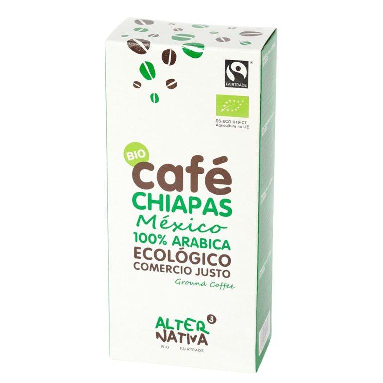 Café Chiapas Arábica Molido Bio Fairtrade 250g