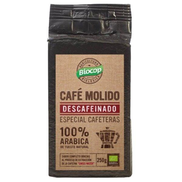 Café Descafeinado 100% Arábica Molido Bio 250g