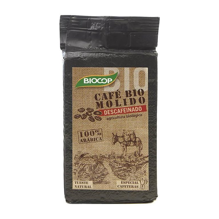 Café Descafeinado 100% Natural Molido Bio Fairtrade 250g