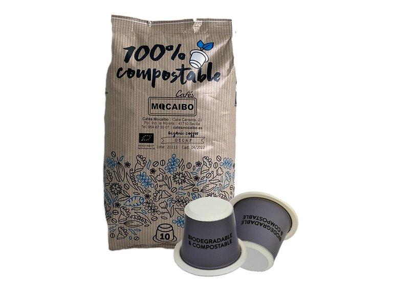 Café Descafeinado Cápsulas 100% arábica compatibles Nespresso 10 uds.