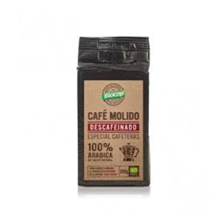 Café Descafeínado Molido Arábica Bio Biocop