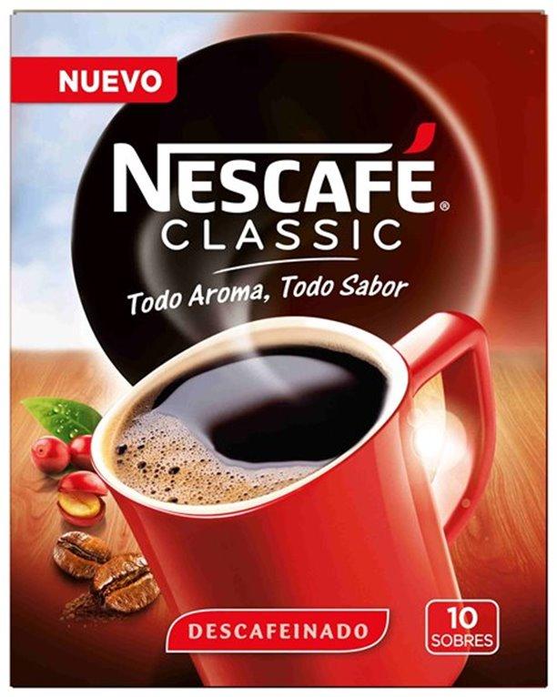 Café descafeinado Nescafé (10 sobres), 1 ud