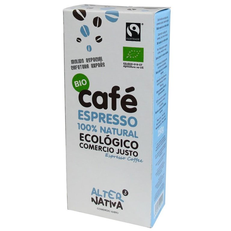 Café Espresso 100% Natural Molido Bio Fairtrade 250g