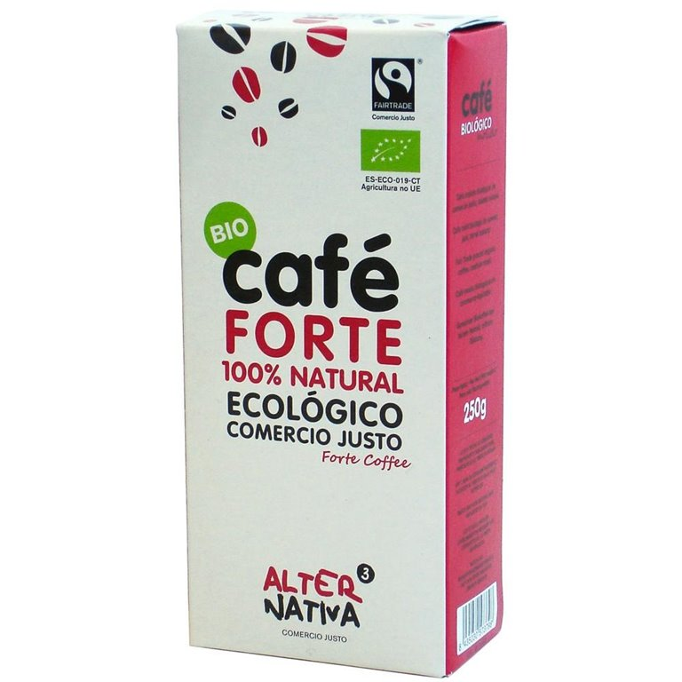 Café Forte 100% Natural Molido Bio Fairtrade 250g