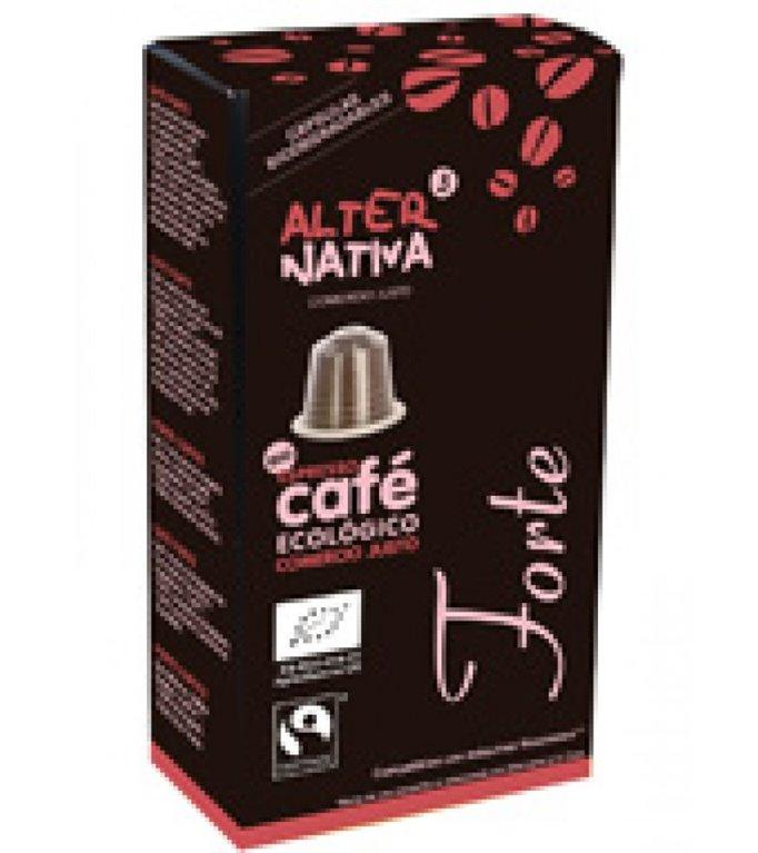Café Forte en Cápsulas Bio Fairtrade 10 Uds.