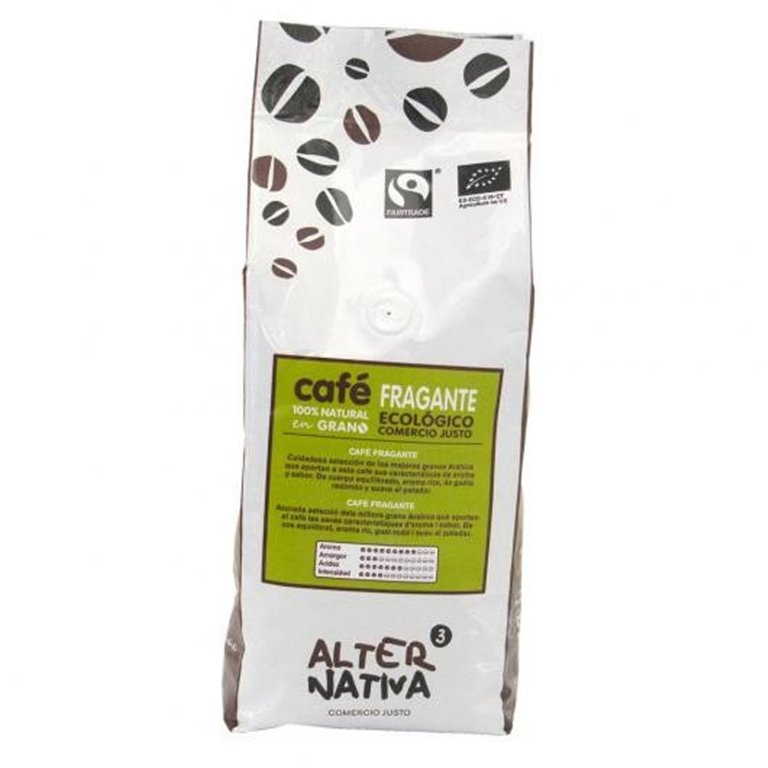 Café Fragante en Grano Bio Fairtrade 500g