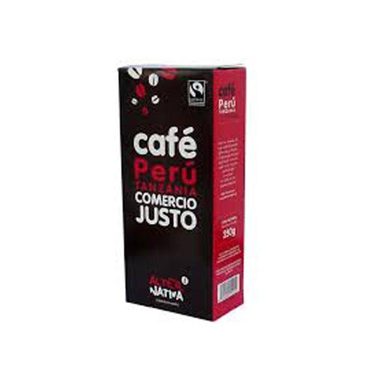 Café molido Perú Tanzania de Comercio Justo Alternativa3
