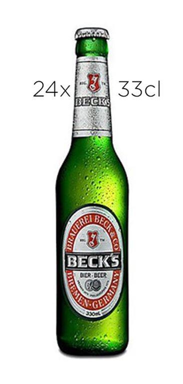 Cerveza Beck's Pils. Caja de 24 botellas de 27,5cl.