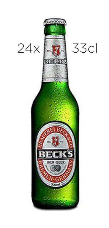 Cerveza Beck's Sin Alcohol. Caja de 24 tercios