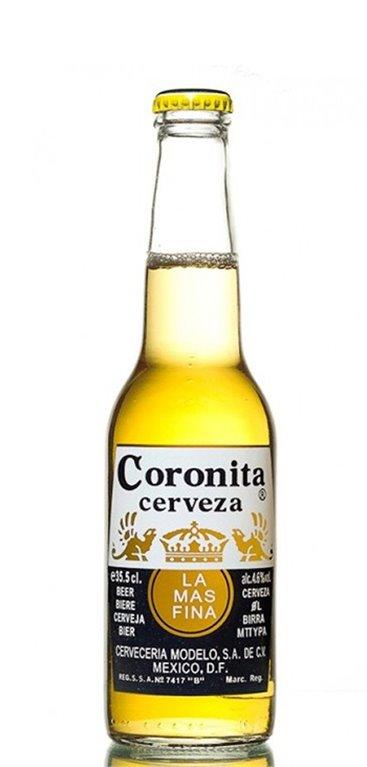 Caja 24 botellines cerveza Coronita
