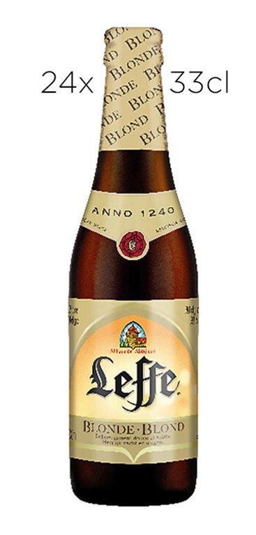 Caja 24 Tercios Cerveza Leffe Blonde