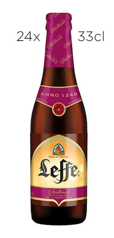 Caja 24 Tercios Cerveza Leffe Radieuse