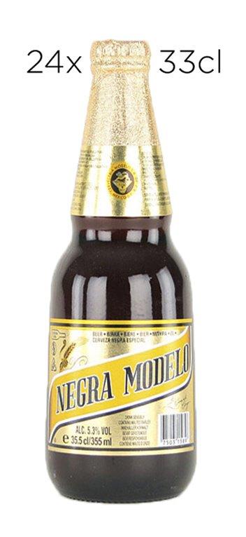 Caja 24 Tercios Cerveza Negra Modelo
