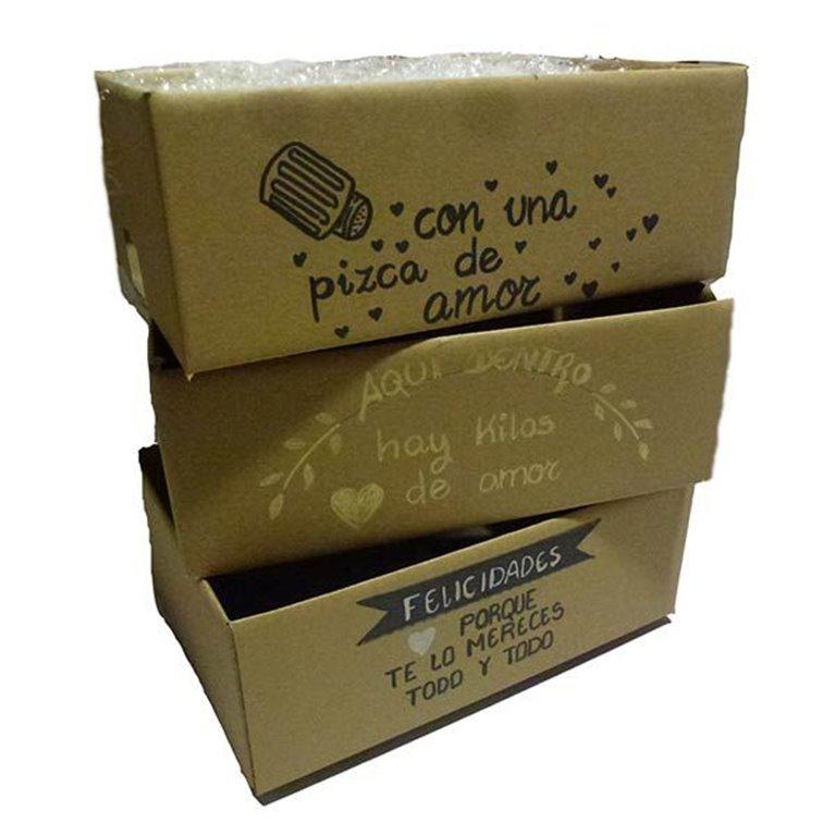 Caja Carton Con Frase