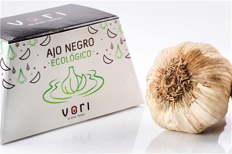 Caja con 2 cabezas de Ajo Negro Ecológico VORI (aprox. 50 gr)