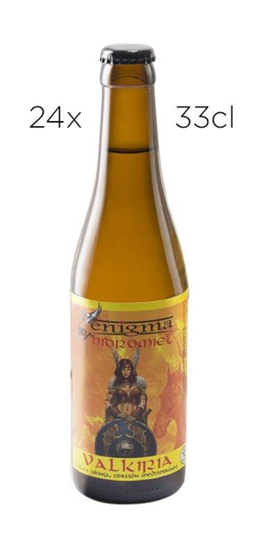 Cerveza Artesana Enigma Valkiria - Hidromiel. Caja de 24 tercios