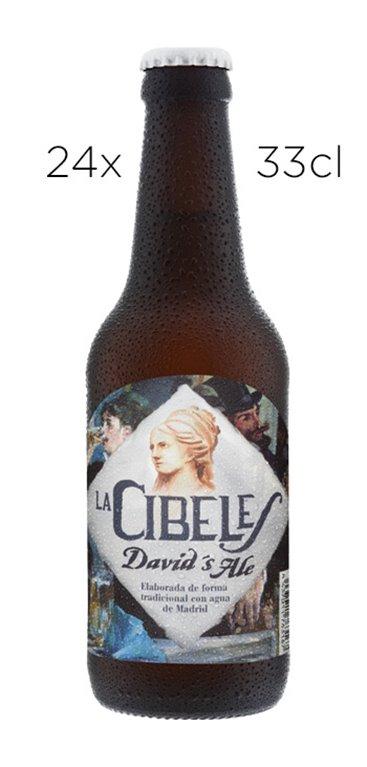 Cerveza Artesana La Cibeles Davids Ale. Caja de 24 tercios
