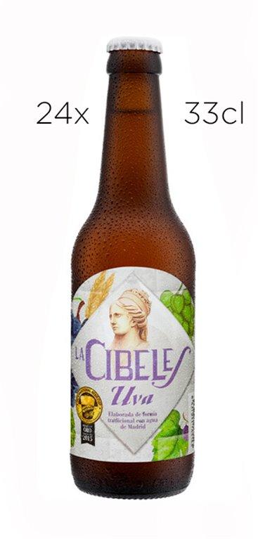 Cerveza Artesana La Cibeles Uva. Caja de 24 tercios