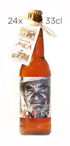 Cerveza Artesana Mica Raíz. Caja de 24 tercios