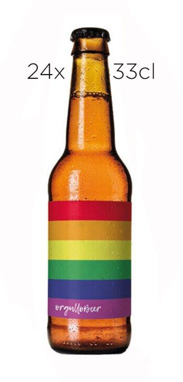 Cerveza Artesana OrgulloBear Blonde Ale. Caja de 24 tercios.