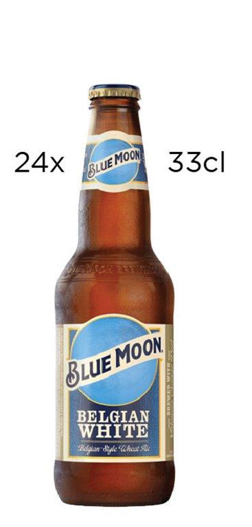 Caja de 24 botellines de Cerveza Blue Moon