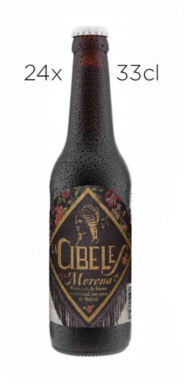 Cerveza Artesana La Cibeles Morena. Caja de 24 tercios