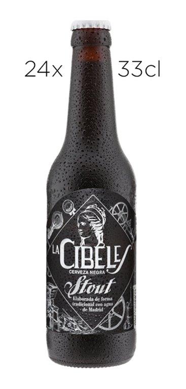 Cerveza Artesana La Cibeles Stout. Caja de 24 Tercios