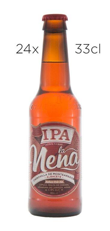 Cerveza Artesana La Nena IPA. Caja de 24  tercios
