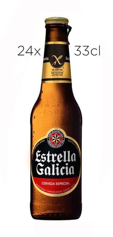 Caja de 24 Tercios Cerveza Estrella Galicia Sin Gluten