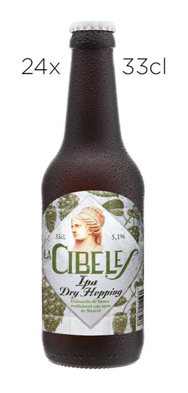 Cerveza Artesana La Cibeles IPA Dryhope. Caja de 24 Tercios