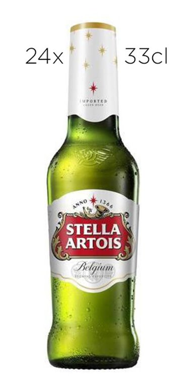 Cerveza Stella Artois. Caja de 24 Tercios