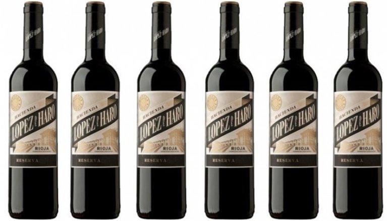 Caja de 6 botellas de Hacienda López de Haro Reserva 2013, 6 ud