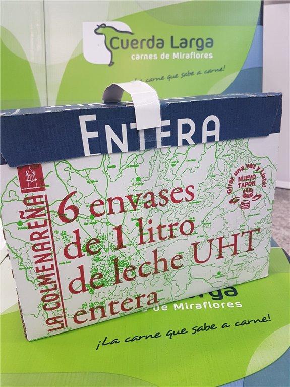 Caja de 6 Tetra briks de leche entera U.H.T. La Colmenareña