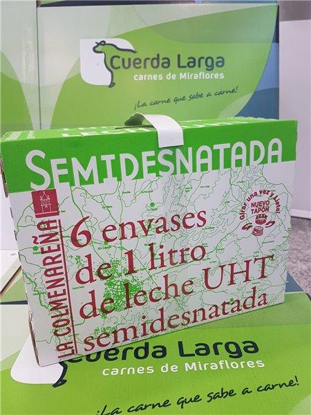 Caja de 6 Tetra briks de leche semidesnatada U.H.T. La Colmenareña