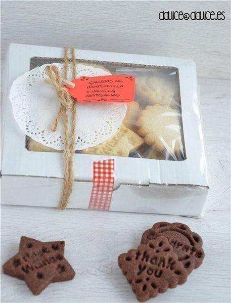 Caja de galletas de mantequilla & cacao