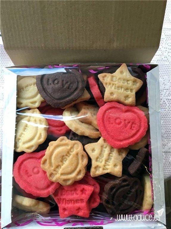 Caja de galletas de mantequilla: sabores variados de autor, 1 ud