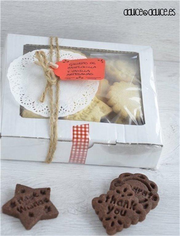 Caja de galletas de mantequilla: Vainilla & Cacao