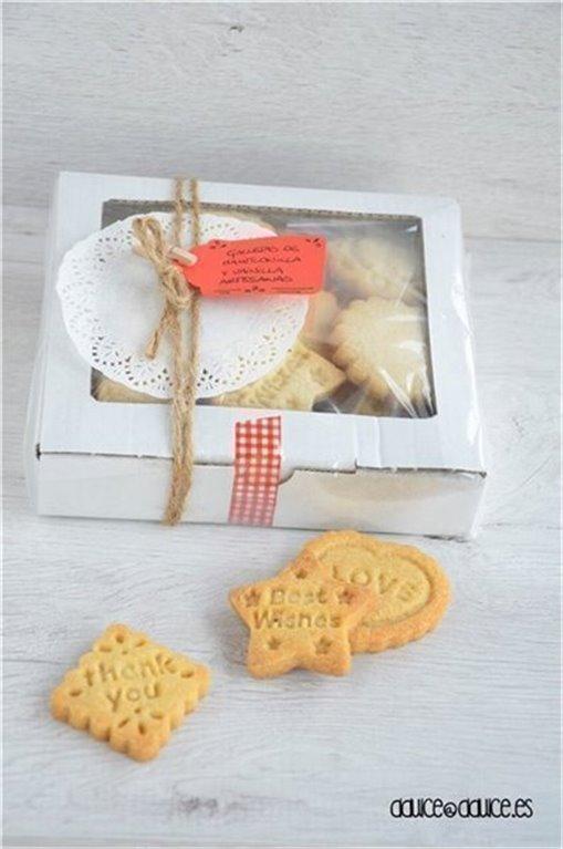 Caja de galletas de mantequilla & vainilla