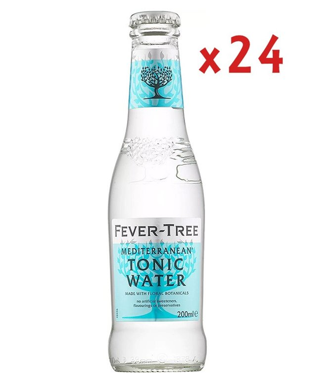 Caja Fever-Tree Tónica Mediterránea 24 Uds