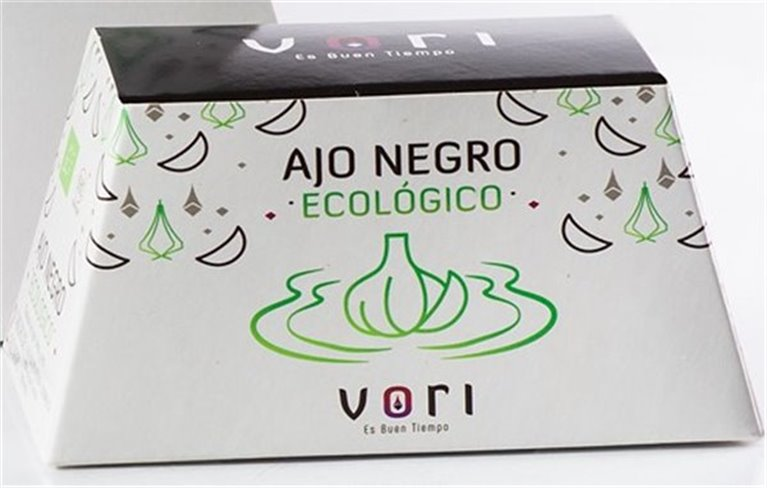 Caja grande de cabezas de Ajo Negro Ecológico VORI ( 500 gr) Aprox.