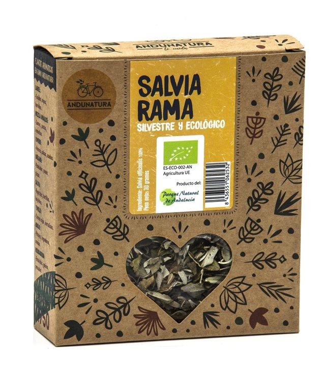 Caja kraft con 30g de Salvia Silvestre ECO
