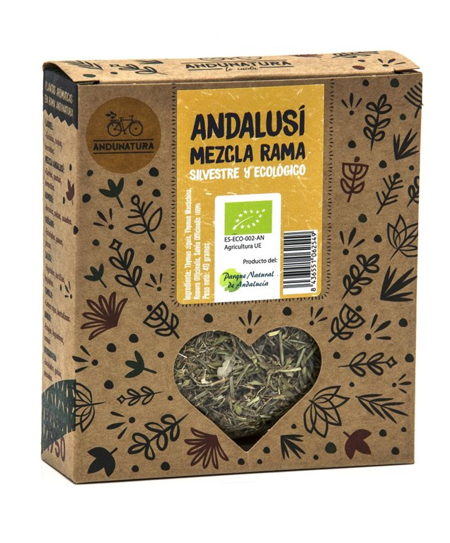 Caja kraft con 40g de Mezcla Andalusí Silvestre ECO