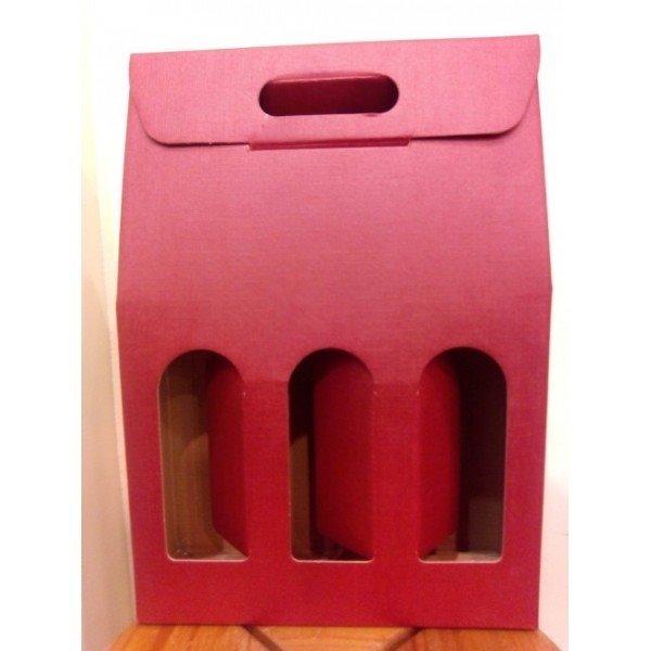 Caja vino Cartón 3 botellas